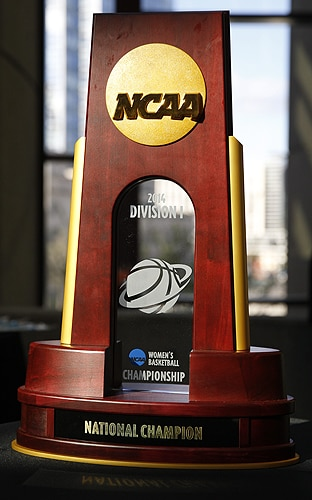 DI women's basketball national championship trophy