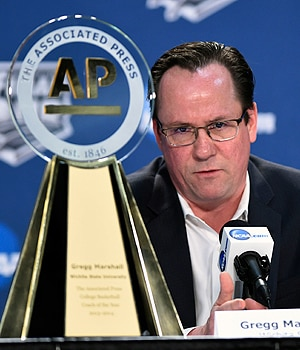 Wichita State's Gregg Marshall is the AP coach of the year.
