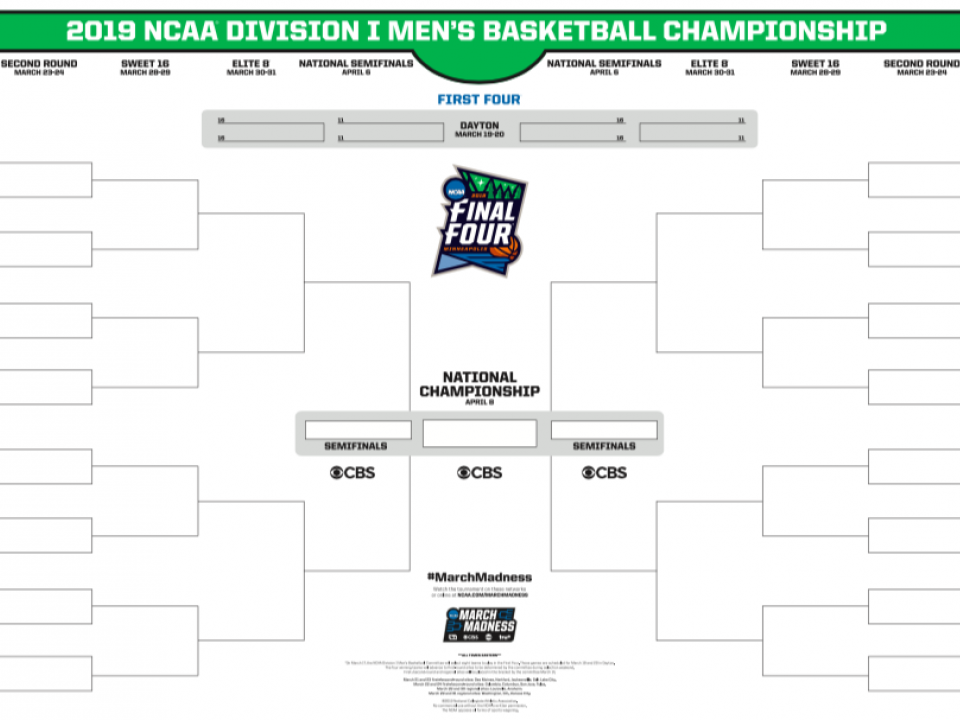 march madness 2019 dates and schedule