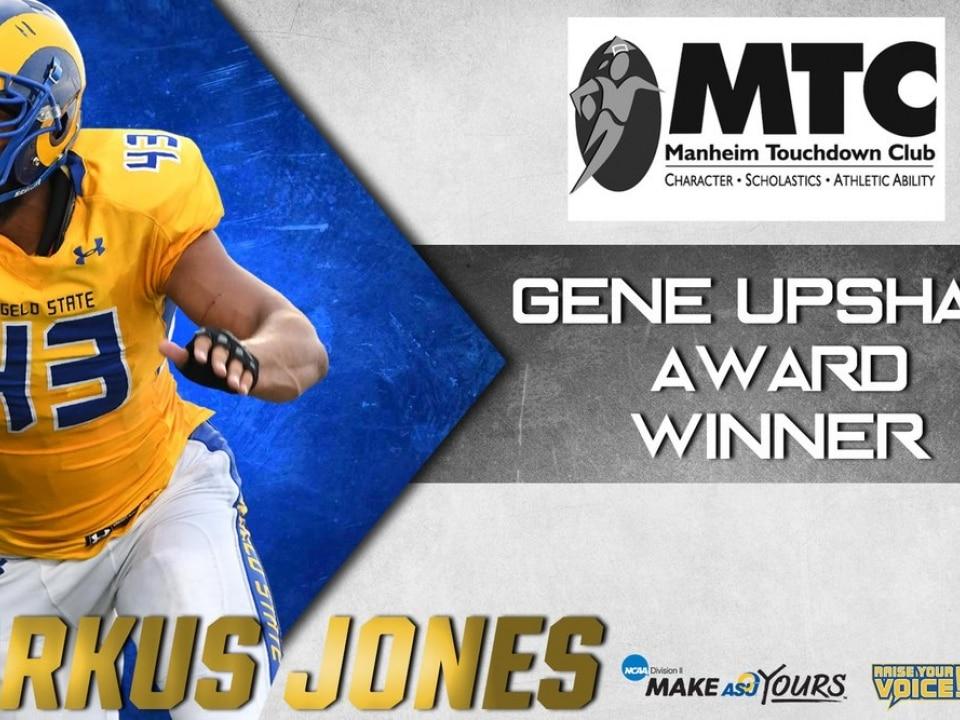 Angelo State Athletics Markus Jones Wins The 2018 Gene Upshaw Award For Dii Football Best Lineman