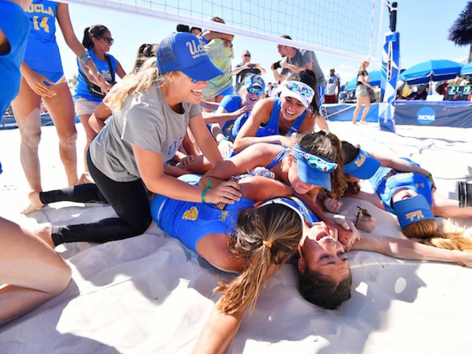 ucla wins beach volleyball