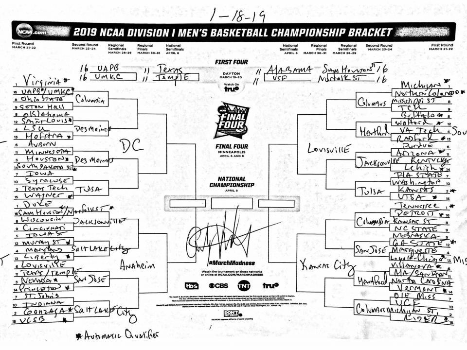 53b7d39f32a The March Madness field predicted