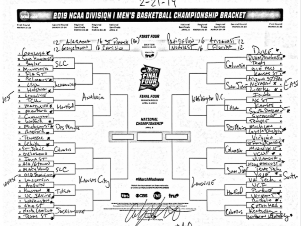 March Madness 2019 Bracket Final Four Prediction Sleeper: The Complete March Madness Field Of 68 Predicted Less Than