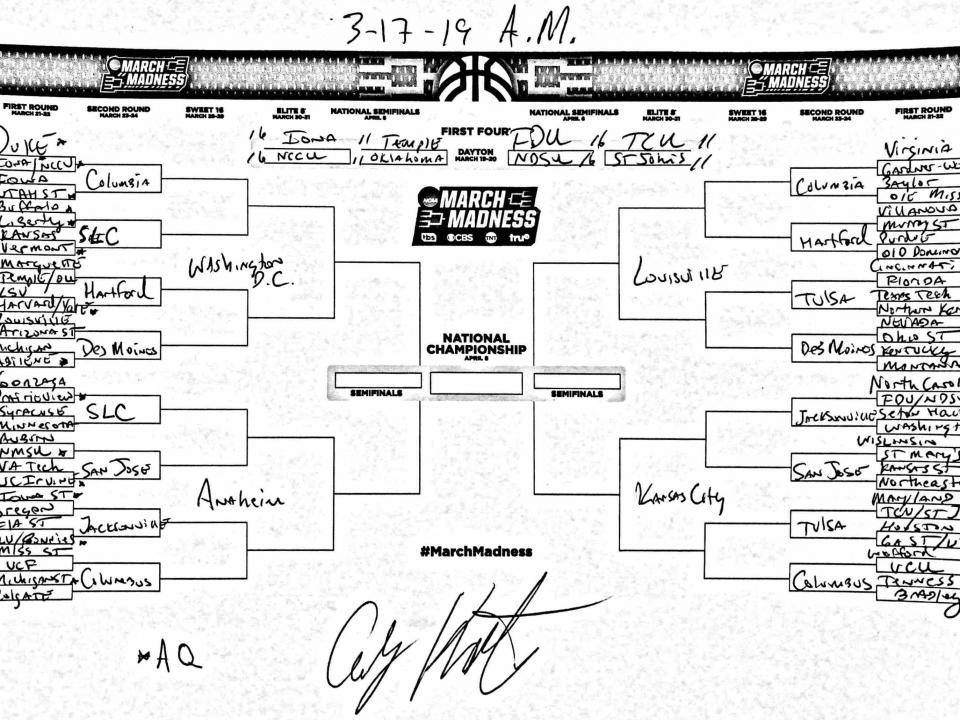 The Entire March Madness Field Of 68 Predicted On