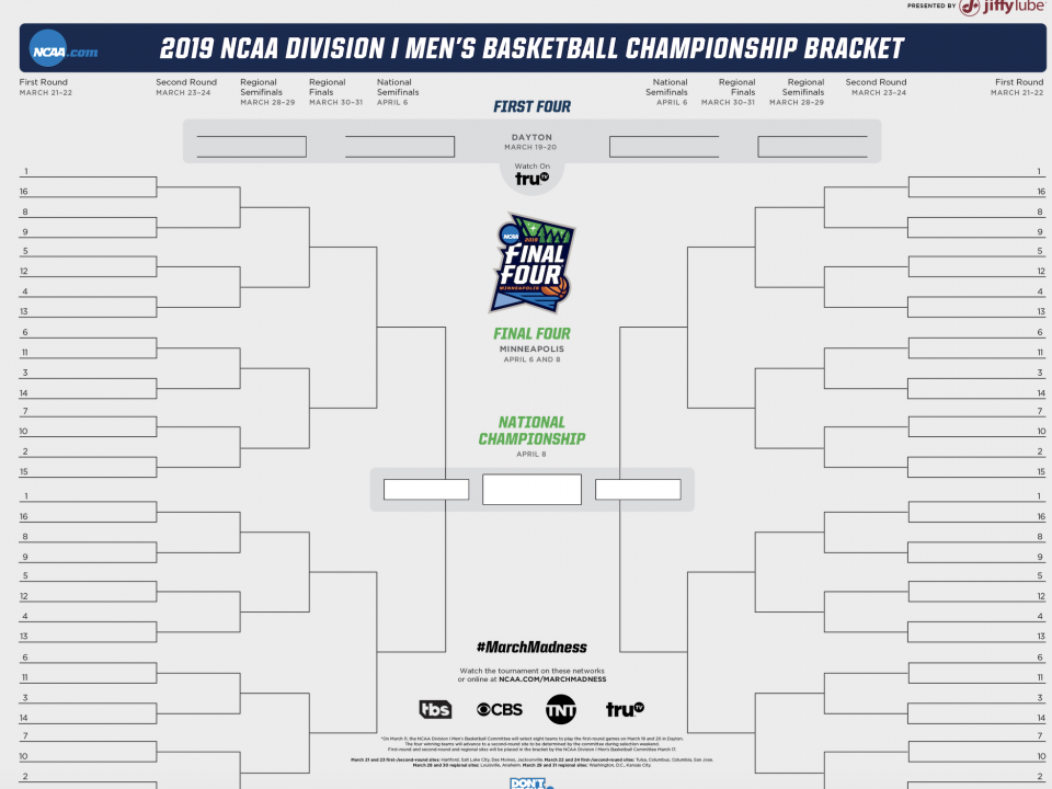 Ncaa March Madness 2019 Dates: Selection Sunday 2019: Time, Dates, NCAA Tournament