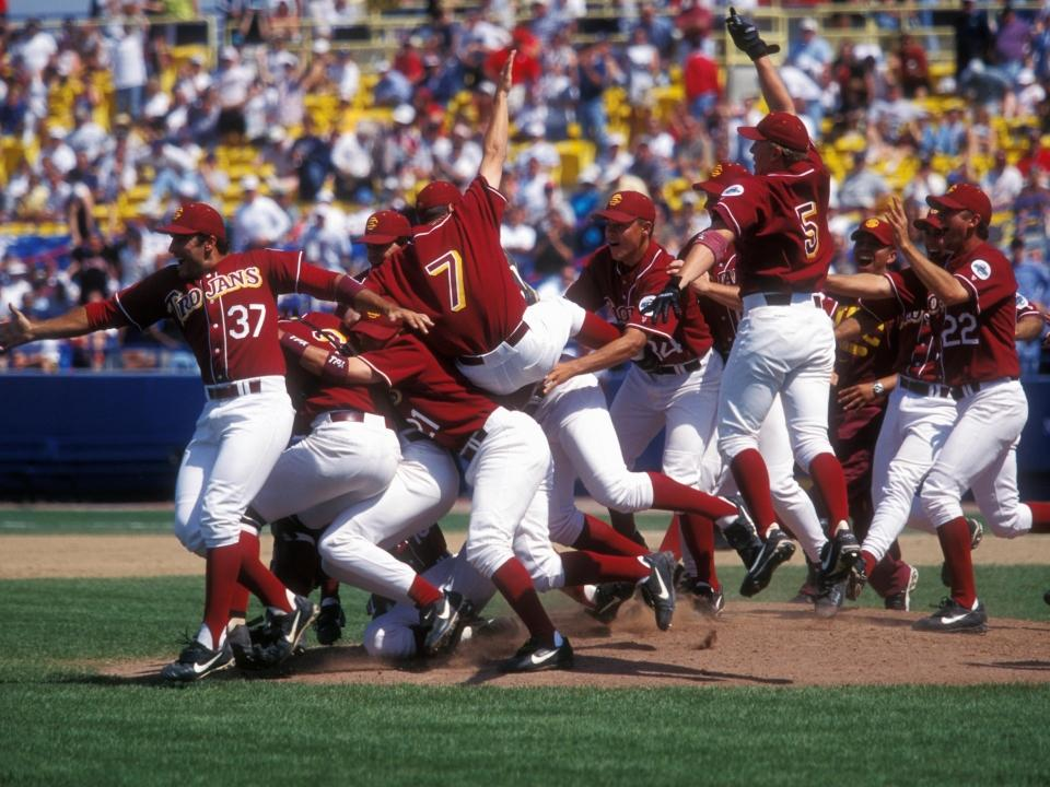 Here are the programs with the most College World Series