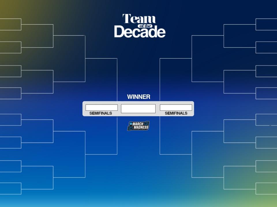 Vote for the college basketball team of the decade in this 64-deep