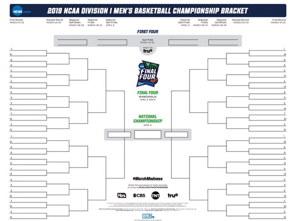 It is a graphic of Monster March Madness Printable