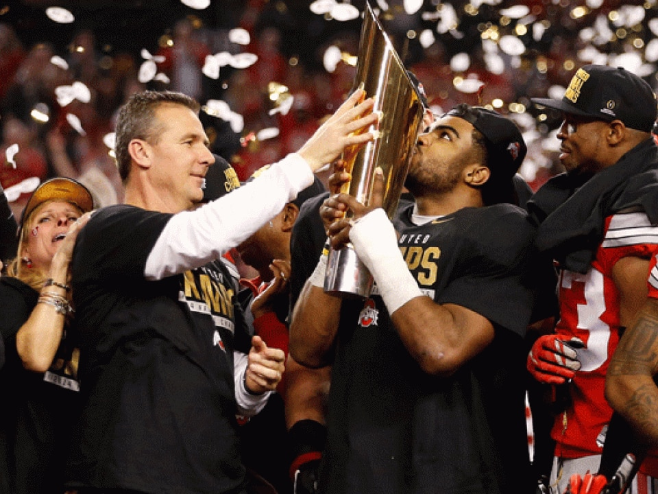 Urban Meyer and Ohio State won the first CFP title.