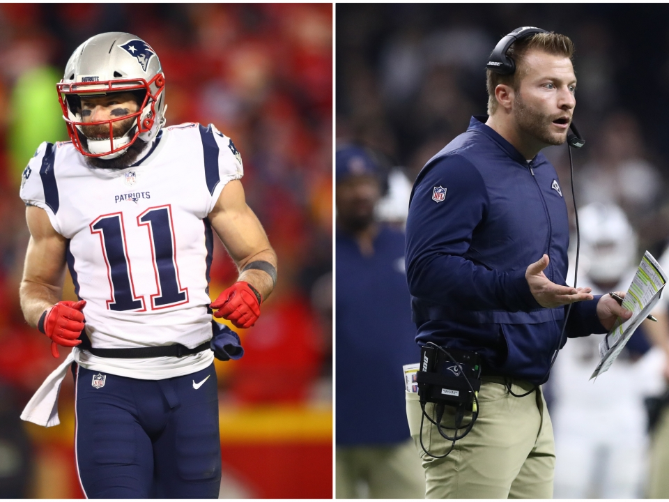 Julian Edelman and Sean McVay played against each other in college.