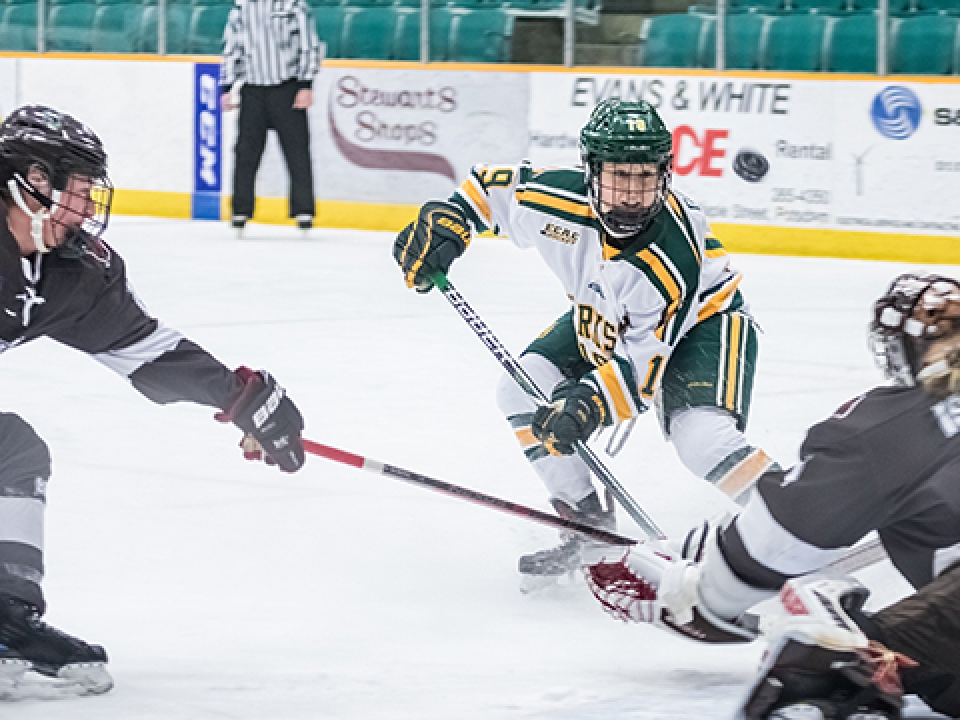 Loren Gabel netted her third hat trick of the season for Clarkson.