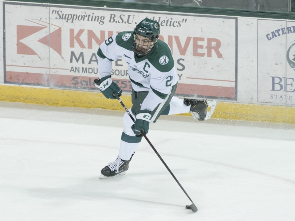 Justin Baudry showed off his offensive prowess for Bemidji State over the weekend.