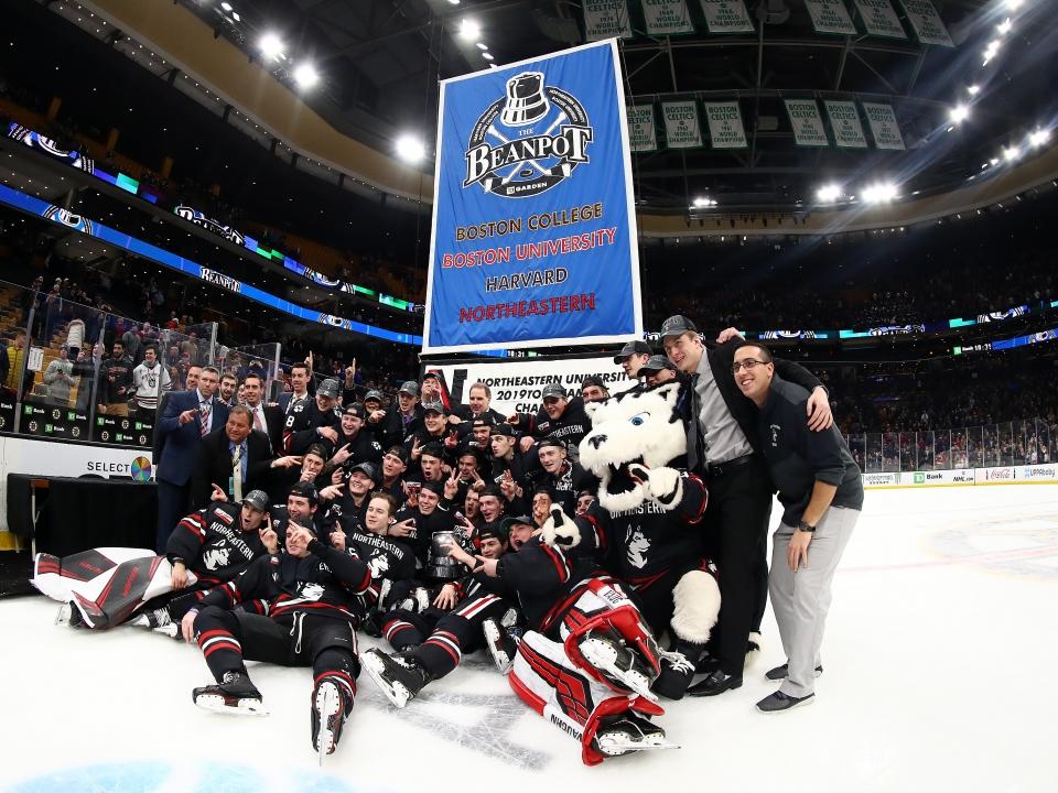 Northeastern wins the 2019 Beanpot tournament.