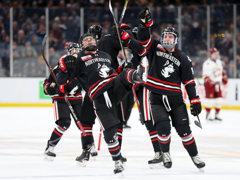 Northeastern wins the 2019 Beanpot.