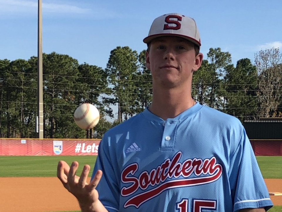 Florida Southern's Carson King threw a combined no-hitter in his DII baseball debut.
