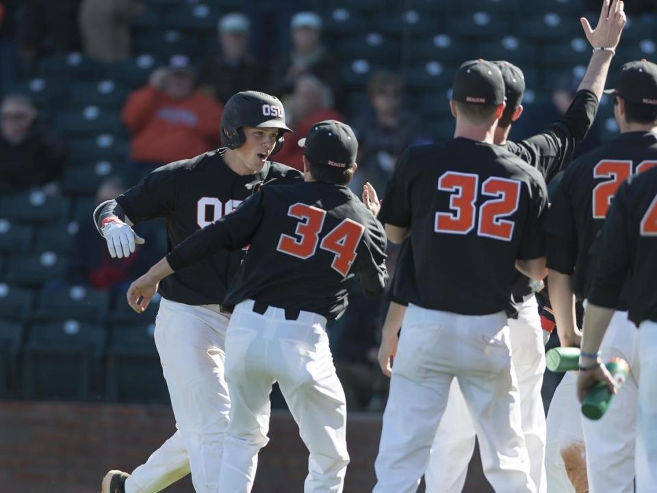 Adley Rutschman had a big opening weekend for Oregon State baseball.