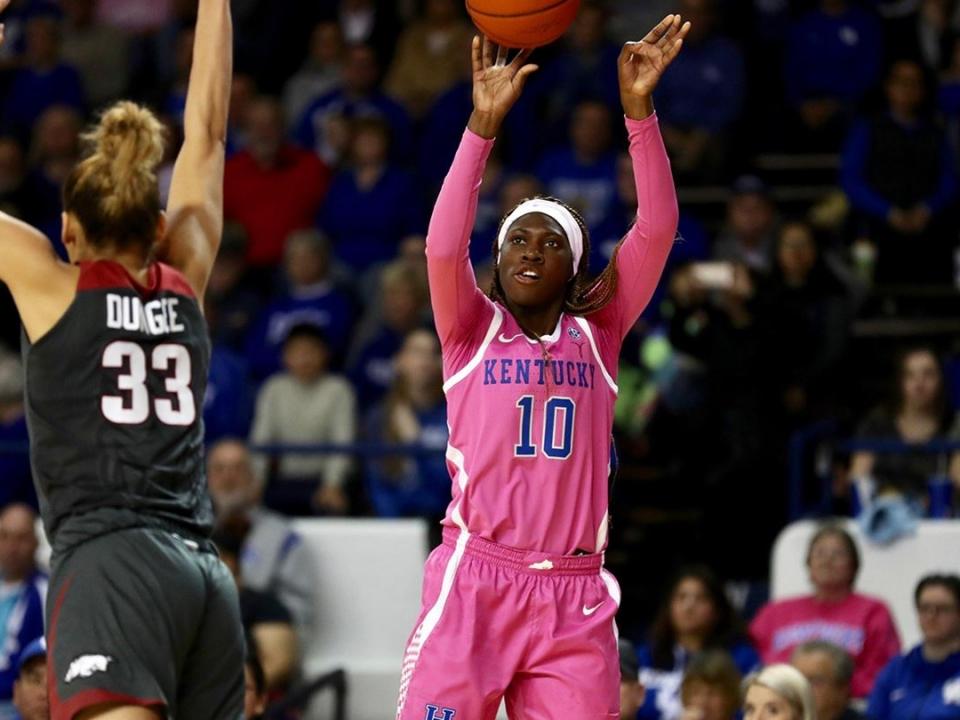 Kentucky women's basketball's Rhyne Howard won her seventh SEC freshmen of the week award.