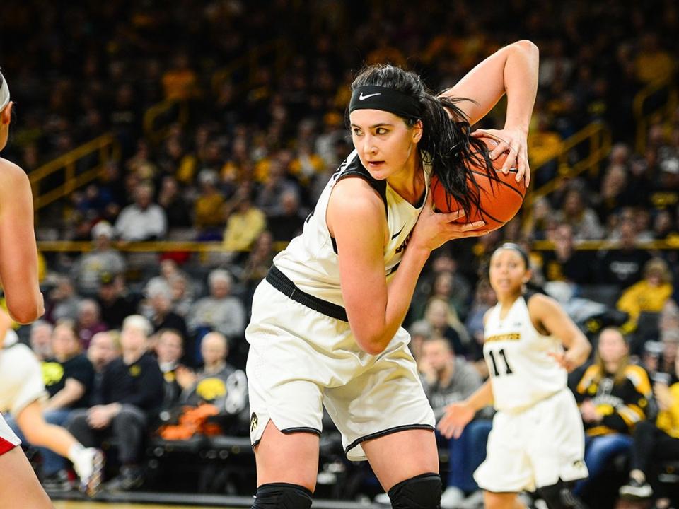 Iowa's Megan Gustafson.