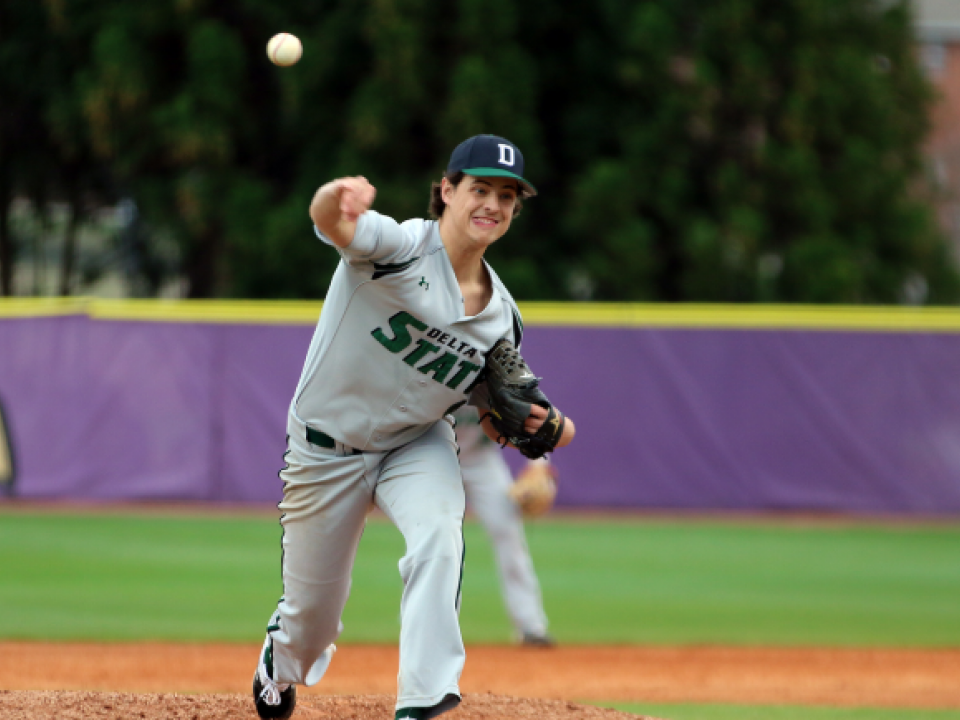 Delta State baseball's pitching staff is off to a hot start in the DII baseball season.