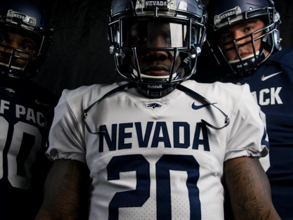 fa45c47b Nevada's previous uniforms were pretty forgettable. But with a new bold  font, the Wolf Pack are making a bold statement in 2017. Blue and white  jerseys now ...