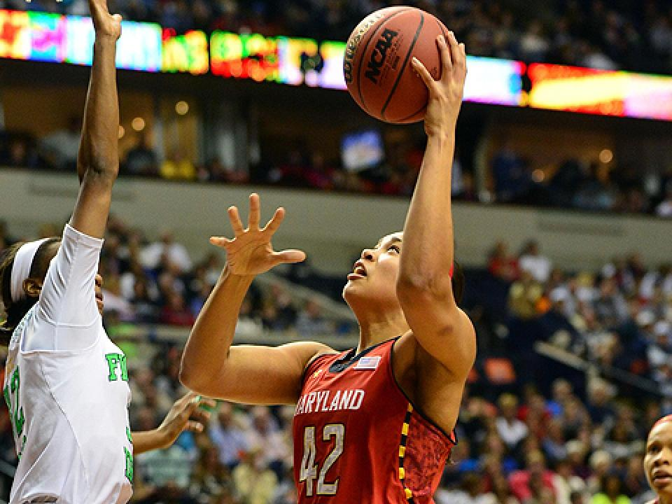 Freshman Brionna Jones led Maryland with 16 points in the Final Four loss to Notre Dame.