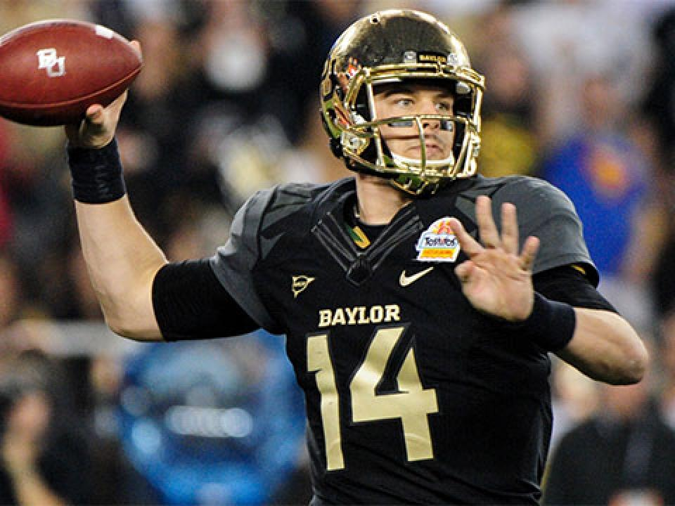 Baylor QB Bryce Petty was voted by the media as the Big 12 preseason offensive player of the year.