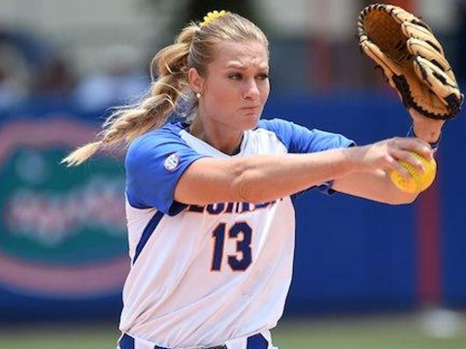 Florida's Hannah Rogers struck out five in five innings.