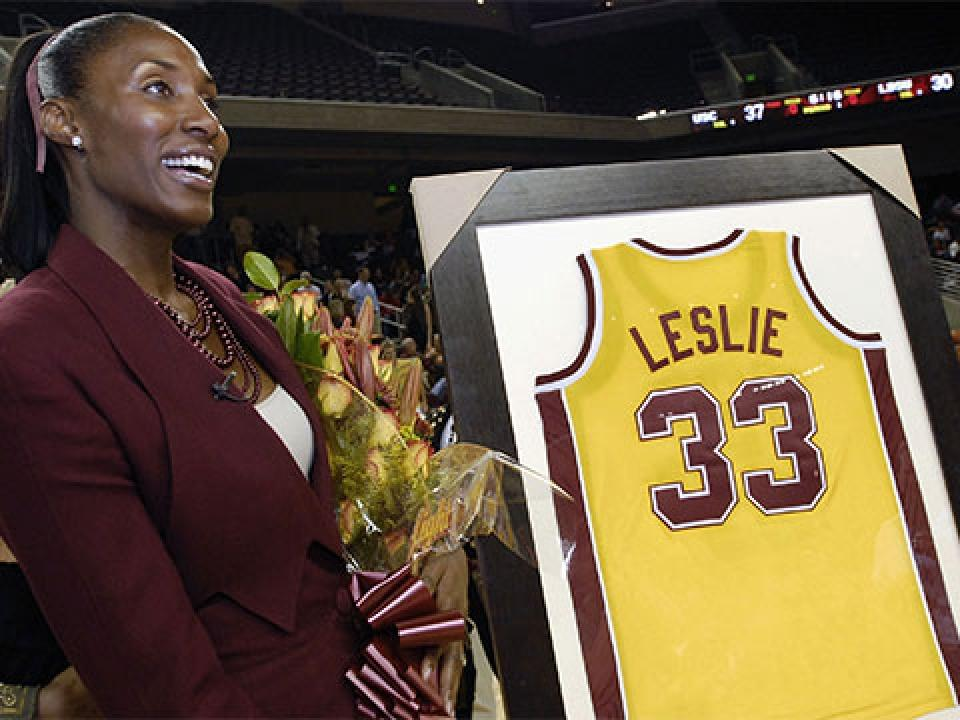 USC retired Lisa Leslie's jersey in 2006.