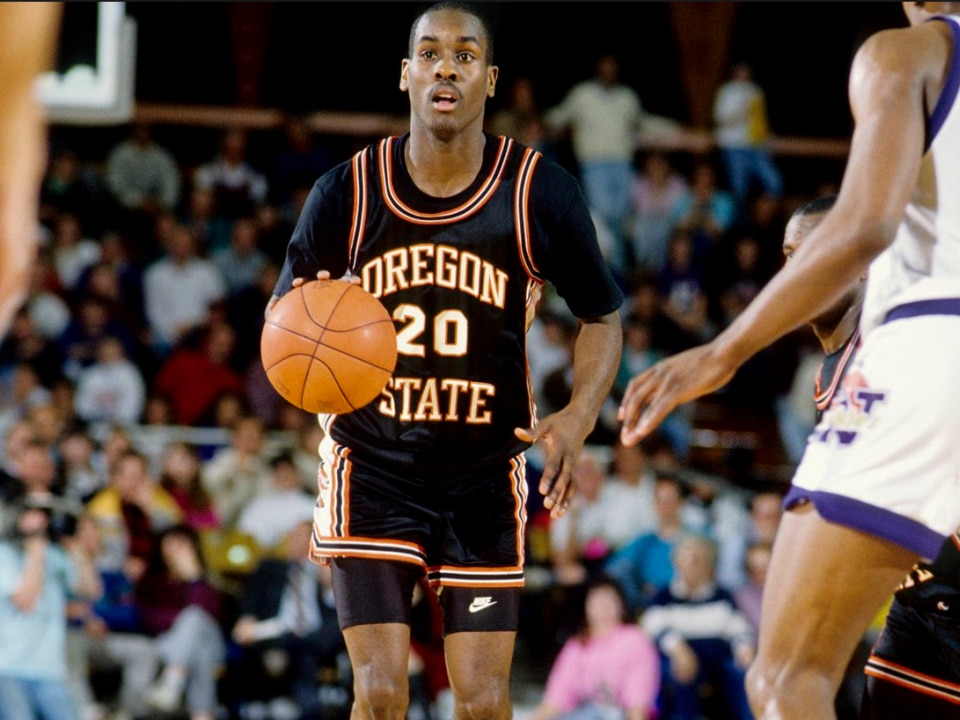 83f43aec72da Gary Payton starred in the Oregon State backcourt in the late 1980s.