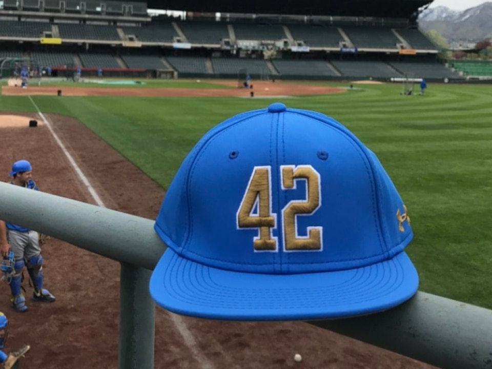 87a149f76fe UCLA honors Jackie Robinson Day with No. 42-emblazoned hats