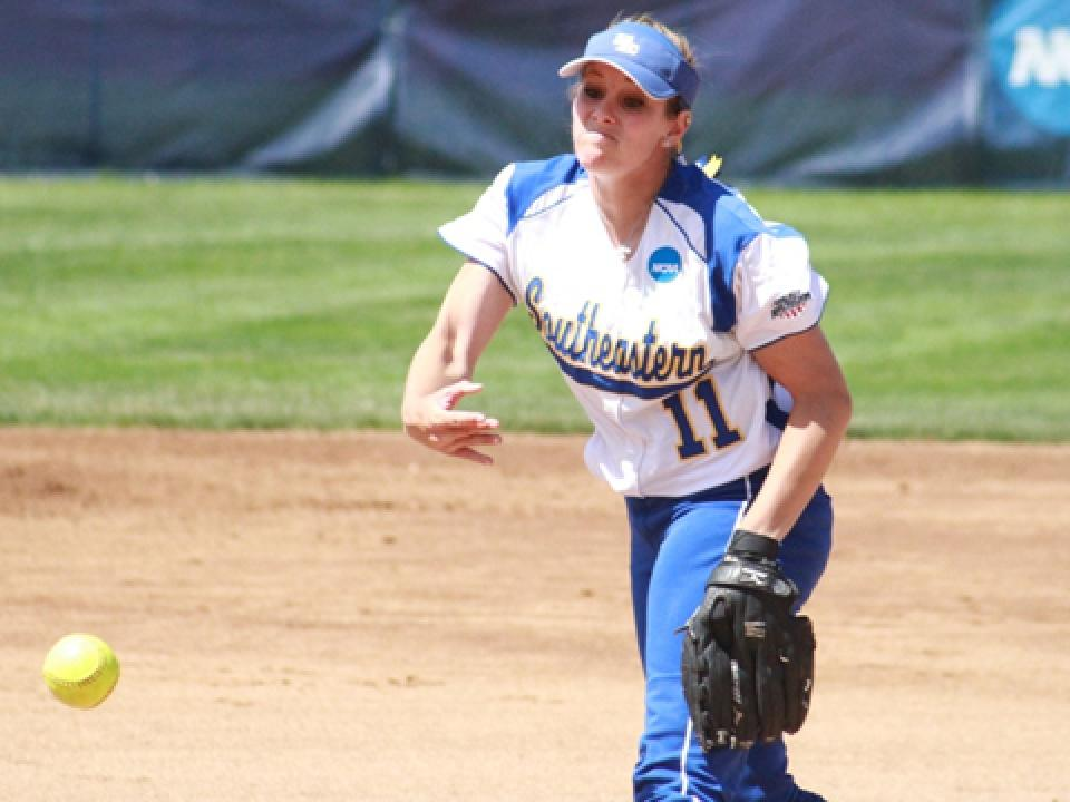 Mindy McElroy turned in her 17th complete game of the season and her sixth shutout.