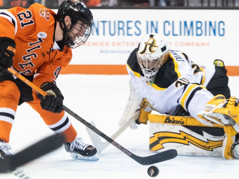 innovative design d1d8e 6b9bf RIT's shorthanded effort and an unassisted goal for Denver top this week's  hockey top plays