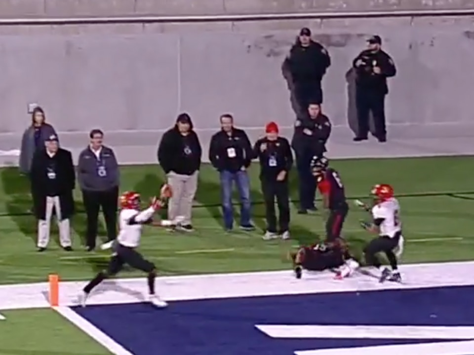Watch: A deflection TD catch like you've never seen in DII Championship game
