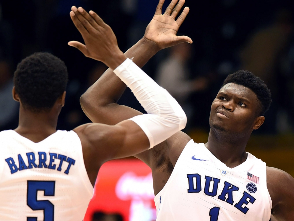 buy popular 672d3 7ae75 Zion Williamson and RJ Barrett discuss chemistry on and off the court