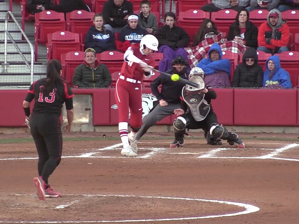 See who joins Danielle Gibson's historic home run cycle for Arkansas in  this week's softball top plays