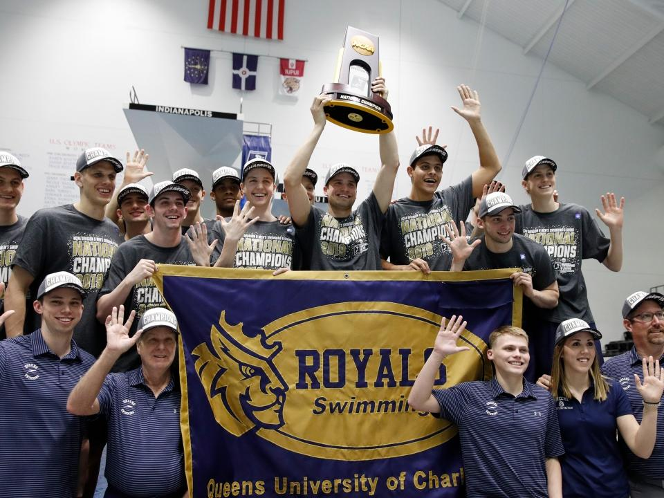 NCAA DII swimming and diving championships: Queens wins 2019 men's and women's national titles