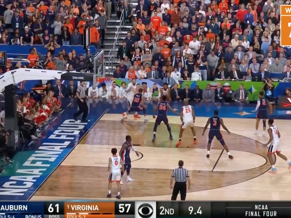 Watch The Win Probability Change In The Virginia Auburn Final Four Game