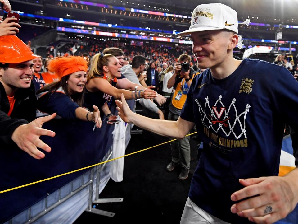Final Four: Kyle Guy talks with Andy Katz after Virginia's National  Championship win