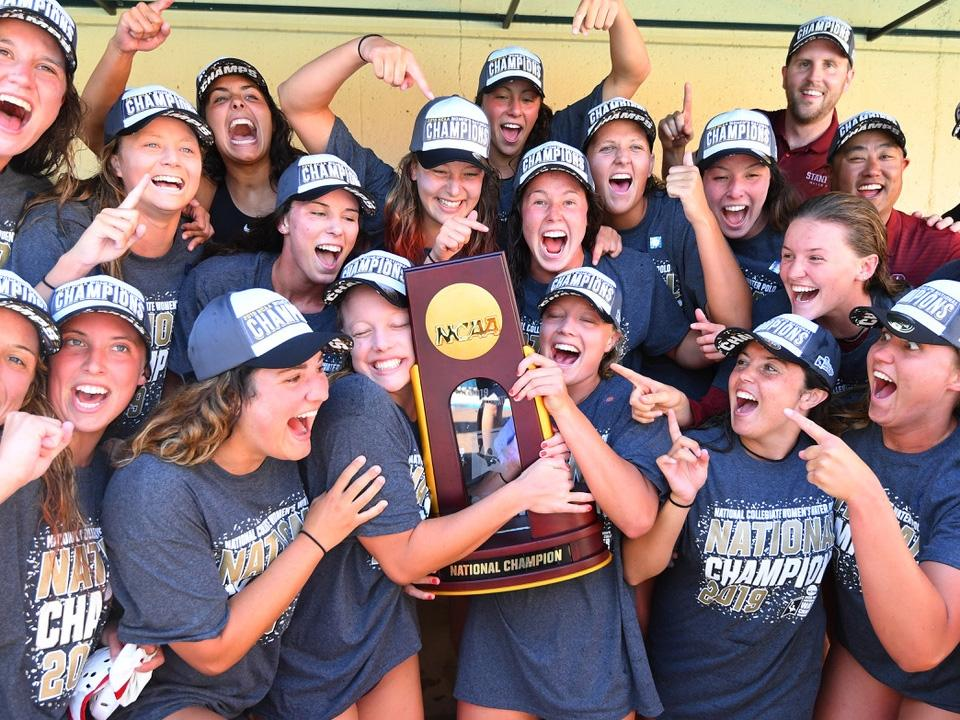 Stanford wins the 2019 NC women's water polo national ...