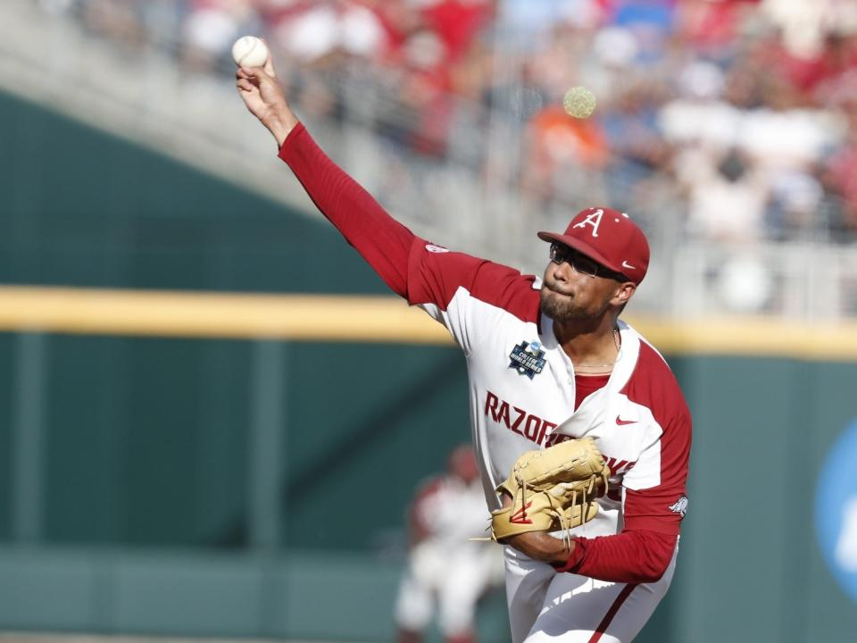 Arkansas' Isaiah Campbell strikes out 10 in seven innings | NCAA.com