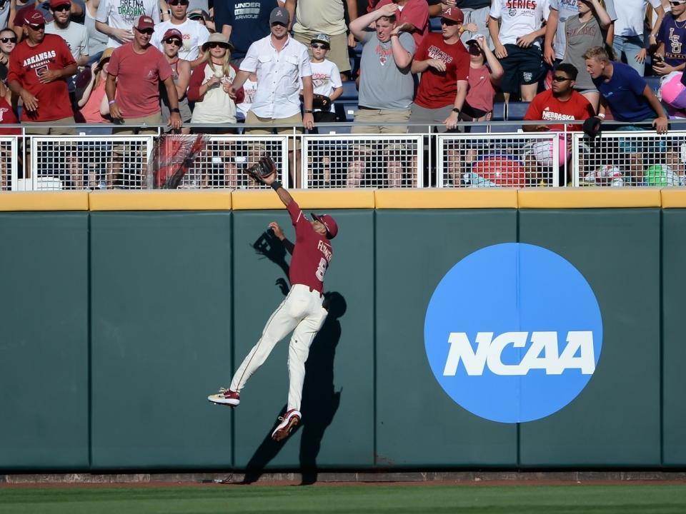 Watch J.C. Flowers' all-around day: Two-way star makes stellar catch, scores winning run, records save | NCAA.com