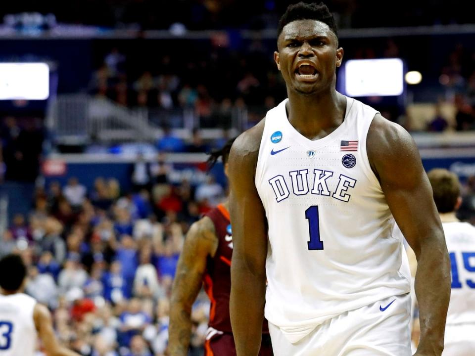 check out ee54e c6312 NBA Draft: Zion Williamson's top NCAA tournament highlights