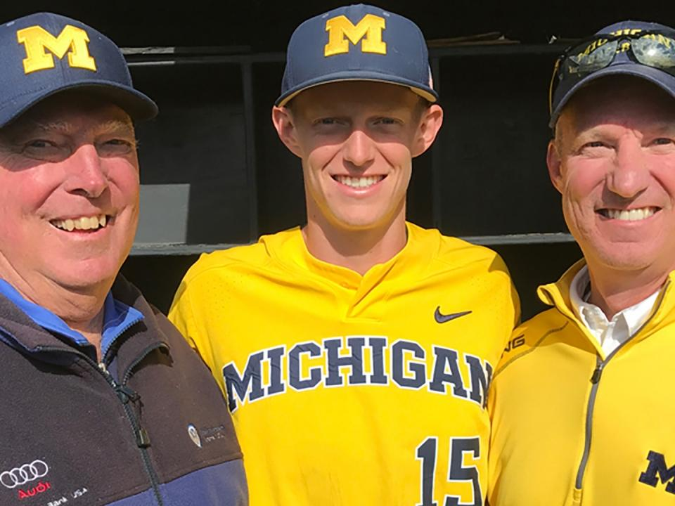 Jimmy Kerr followed in his granfathers and fathers footsteps playing  baseball at Michigan