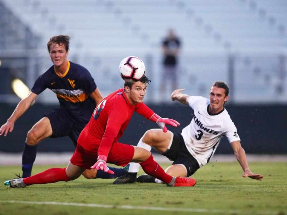 College soccer: James Madison stops late penalty kick to secure upset over No. 1 Wake Forest