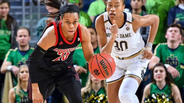 Asia Durr and Louisville play Notre Dame