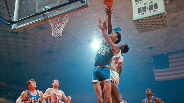 Kareem Abdul Jabbar, known then as Lew Alcindor plays in the college basketball national championship game.