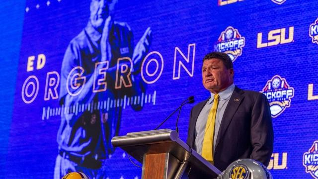 Everything Ed Orgeron said about the spread offense and LSU football at SEC media days