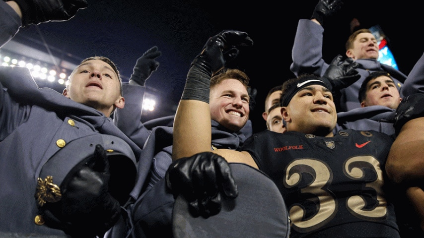 army navy game score history