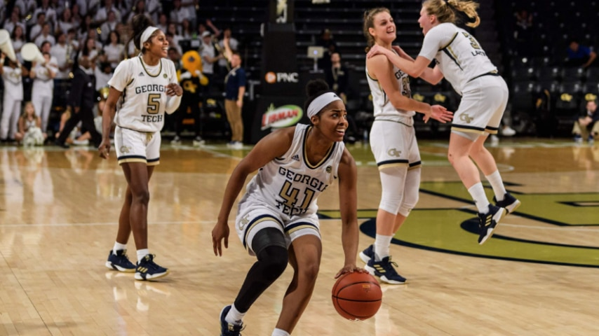 Women's college basketball: Georgia Tech upsets No. 12 ...