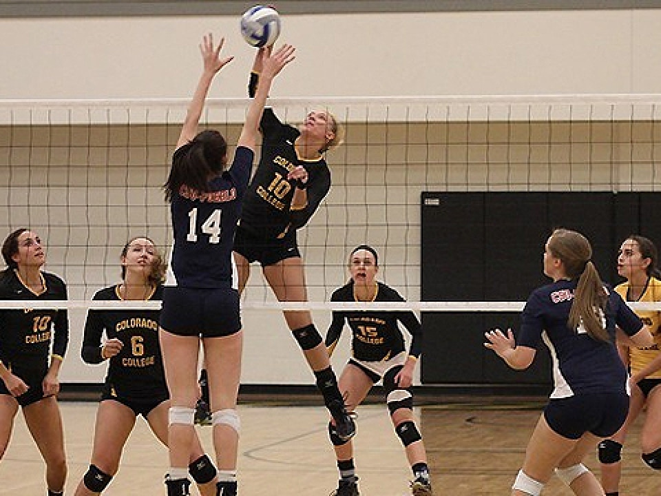 Lauren Hahn led Colorado College with 15 kills on Friday.